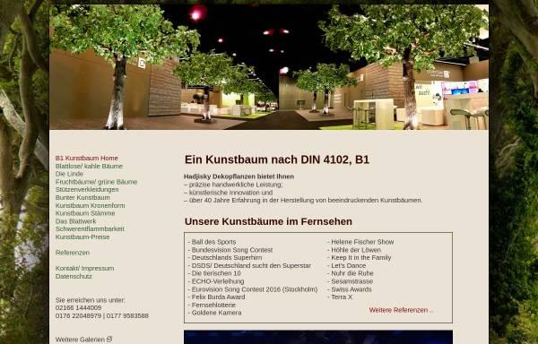 Vorschau von www.b1-kunstbaum.de, Kunstbaum nach DIN 4102, B1 von Hadjisky