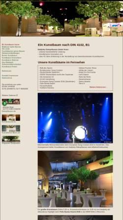 Vorschau der mobilen Webseite www.b1-kunstbaum.de, Kunstbaum nach DIN 4102, B1 von Hadjisky