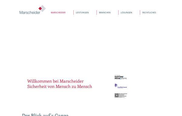 Vorschau von www.marscheider.de, Adelheid Marscheider Versicherungsmakler GmbH & Co. KG