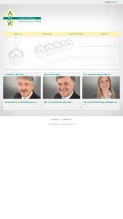 Vorschau der mobilen Webseite www.aumueller-wegner.de, Aumüller & Wegner Finanzmanagement GmbH