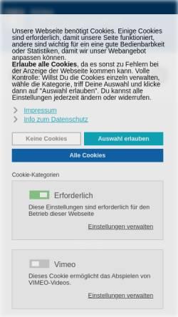 Vorschau der mobilen Webseite www.dema-makler.de, Dema Deutsche Versicherungsmakler AG