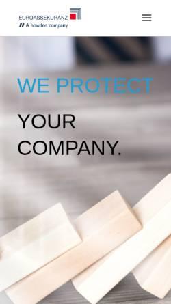 Vorschau der mobilen Webseite www.euroassekuranz.de, Euroassekuranz Versicherungsmakler AG