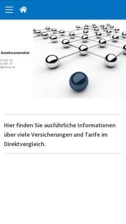 Vorschau der mobilen Webseite www.amrup.de, Fred Rupprecht Assekuranzmakler