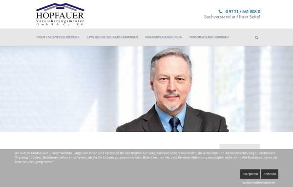 Vorschau von www.hopfauer.de, Hopfauer Versicherungsmakler GbR