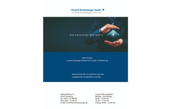 Vorschau von www.kindl-schoenberger.de, Kindl und Schönberger GmbH Versicherungsmakler