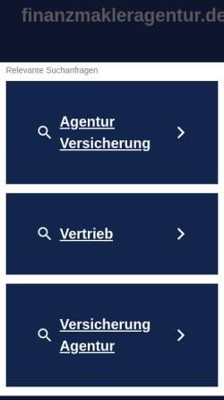 Vorschau der mobilen Webseite www.finanzmakleragentur.de, MK Finanzmakler Marlene Köth
