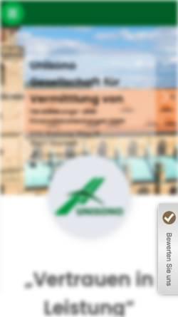 Vorschau der mobilen Webseite www.unisonogmbh.de, Unisono GmbH