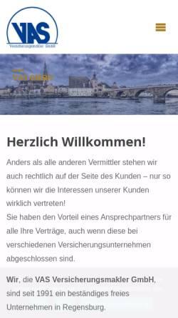 Vorschau der mobilen Webseite www.vas.de, VAS Versicherungsmakler GmbH