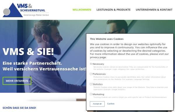 Vorschau von www.vmsmakler.de, VMS Assekuranz GmbH