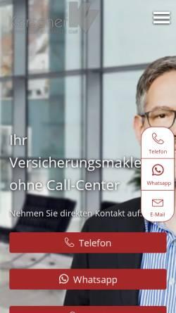 Vorschau der mobilen Webseite www.kerscher-versicherungsmakler.de, Kerscher Versicherungsmakler GbR