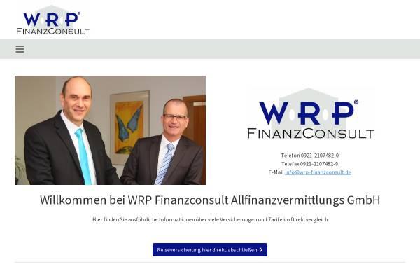 Vorschau von www.wrp-finanzconsult.de, WRP Finanz Consult Allfinanzvermittlungs GmbH