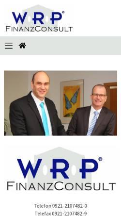 Vorschau der mobilen Webseite www.wrp-finanzconsult.de, WRP Finanz Consult Allfinanzvermittlungs GmbH