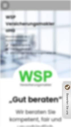 Vorschau der mobilen Webseite www.wsp-versicherungsmakler.de, WSP Versicherungsmakler oHG