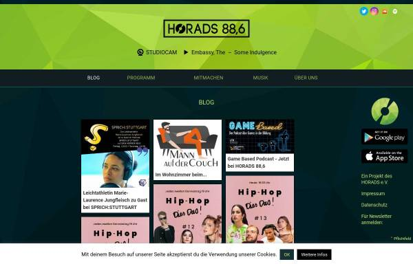 Vorschau von www.horads.de, HochschulRadio Stuttgart (HoRadS)