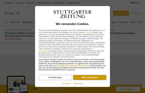 Vorschau von www.stuttgarter-zeitung.de, Stuttgarter Zeitung