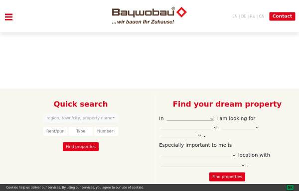 Vorschau von www.baywobau.de, Baywobau Baubetreuung GmbH