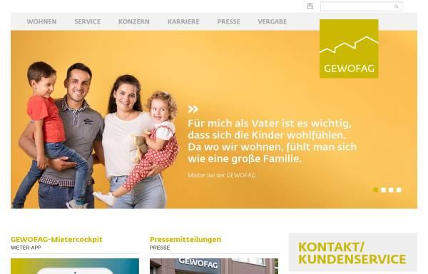 Vorschau von www.gewofag.de, GEWOFAG Holding GmbH