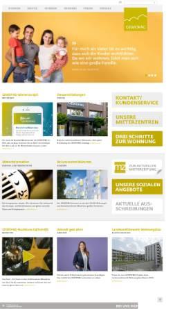 Vorschau der mobilen Webseite www.gewofag.de, GEWOFAG Holding GmbH