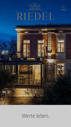 Vorschau der mobilen Webseite www.riedel-immobilien.de, Riedel Immobilien München