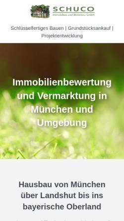 Vorschau der mobilen Webseite www.schuco-immobilien.de, Schuco-Immobilien GmbH
