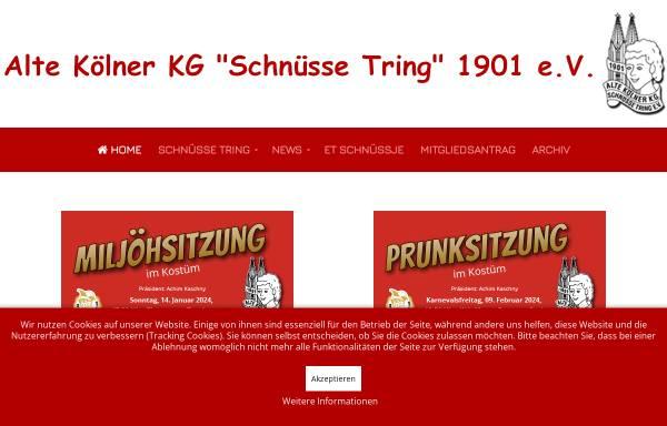 Vorschau von schnuesse-tring.de, Alte Kölner KG