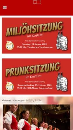 Vorschau der mobilen Webseite schnuesse-tring.de, Alte Kölner KG