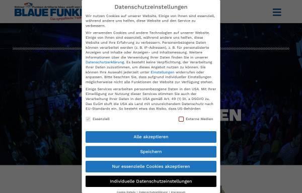 Vorschau von www.blaue-funken.de, Blauen Funken - Kölner Funken Artillerie von 1870 e.V.