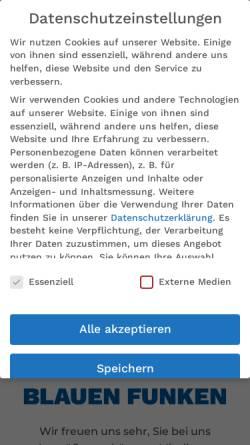 Vorschau der mobilen Webseite www.blaue-funken.de, Blauen Funken - Kölner Funken Artillerie von 1870 e.V.