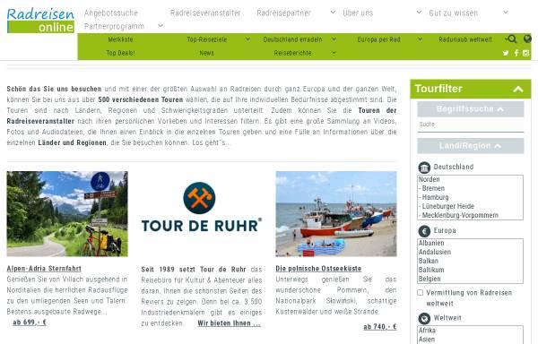 Vorschau von www.radreisen-online.de, Radreisen Online