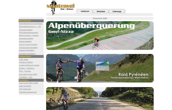 Vorschau von www.velotravel.de, Velotravel - Radreisen weltweit