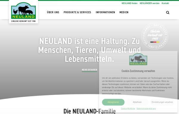 Vorschau von www.neuland-fleisch.de, Neuland - Verein für tiergerechte und umweltschonende Nutztierhaltung e.V.