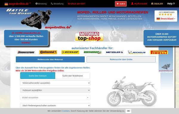 Vorschau von www.mopedreifen.de, Mopedreifen Profi GmbH
