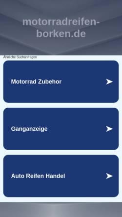 Vorschau der mobilen Webseite www.motorradreifen-borken.de, Mot-Teile-Borken, Detlef Plein