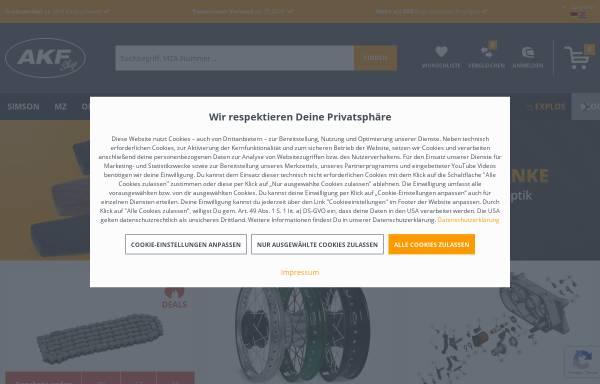 Vorschau von www.akf-shop.de, AKF Automobile Krafträder Fahrzeugteile