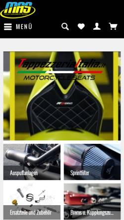 Vorschau der mobilen Webseite www.mas-motorrad.de, MAS Motorradzubehör GmbH