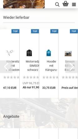 Vorschau der mobilen Webseite www.motorrad-moegling.de, Motorrad Mögling