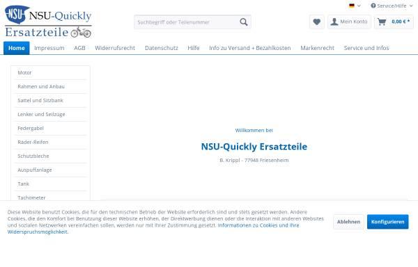 Vorschau von www.nsu-quickly.de, NSU-Quickly Ersatzteile