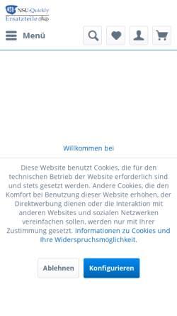 Vorschau der mobilen Webseite www.nsu-quickly.de, NSU-Quickly Ersatzteile