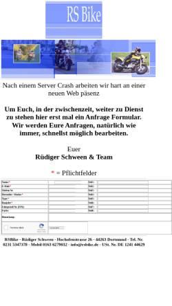 Vorschau der mobilen Webseite www.rsbike.de, RSBike, Rüdiger Schween