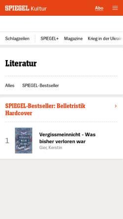 Vorschau der mobilen Webseite gutenberg.spiegel.de, Edgar Allan Poe