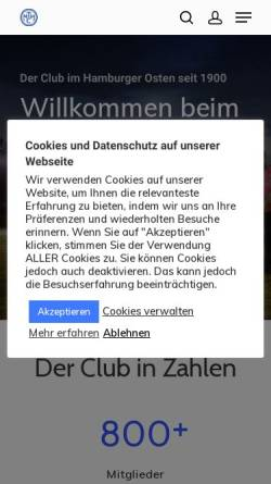 Vorschau der mobilen Webseite www.mthc.de, Marienthaler Tennis und Hockey Club e.V. gegr. 1900