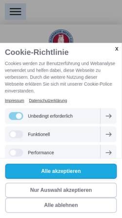 Vorschau der mobilen Webseite www.uhc.de, Uhlenhorster Hockey Club e.V.