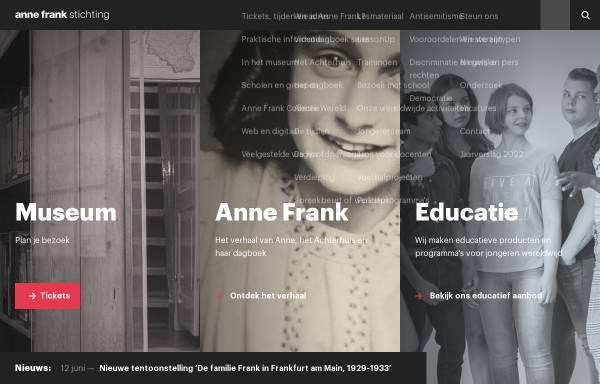 Vorschau von www.annefrank.org, Anne Frank Museum Amsterdam