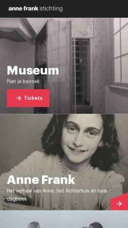 Vorschau der mobilen Webseite www.annefrank.org, Anne Frank Museum Amsterdam