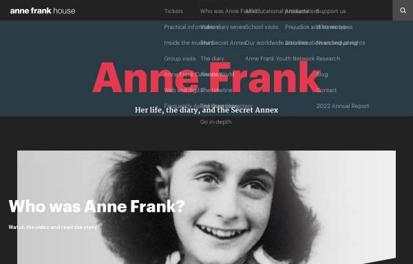 Vorschau von www.annefrankguide.net, WebGuide Anne Frank und der Zweite Weltkrieg