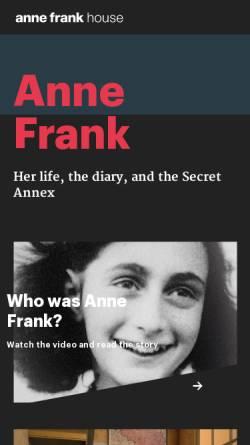 Vorschau der mobilen Webseite www.annefrankguide.net, WebGuide Anne Frank und der Zweite Weltkrieg