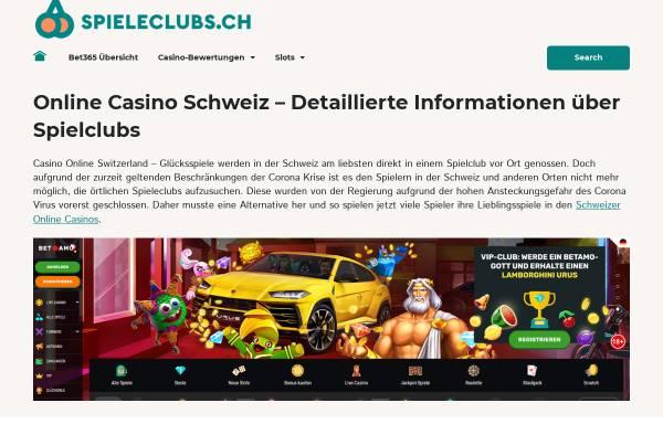 Vorschau von www.spieleclubs.ch, Informationsstelle Schweizer Spieleclubs