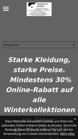Vorschau der mobilen Webseite www.mode-rindsland.de, Mode-Rindsland