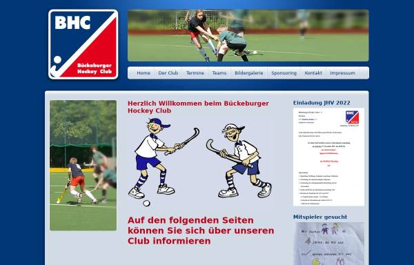 Vorschau von www.hockey-bueckeburg.de, Hockey Bückeburg