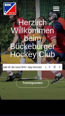 Vorschau der mobilen Webseite www.hockey-bueckeburg.de, Hockey Bückeburg